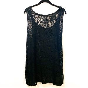 Torrid Black All Lace Tank Top
